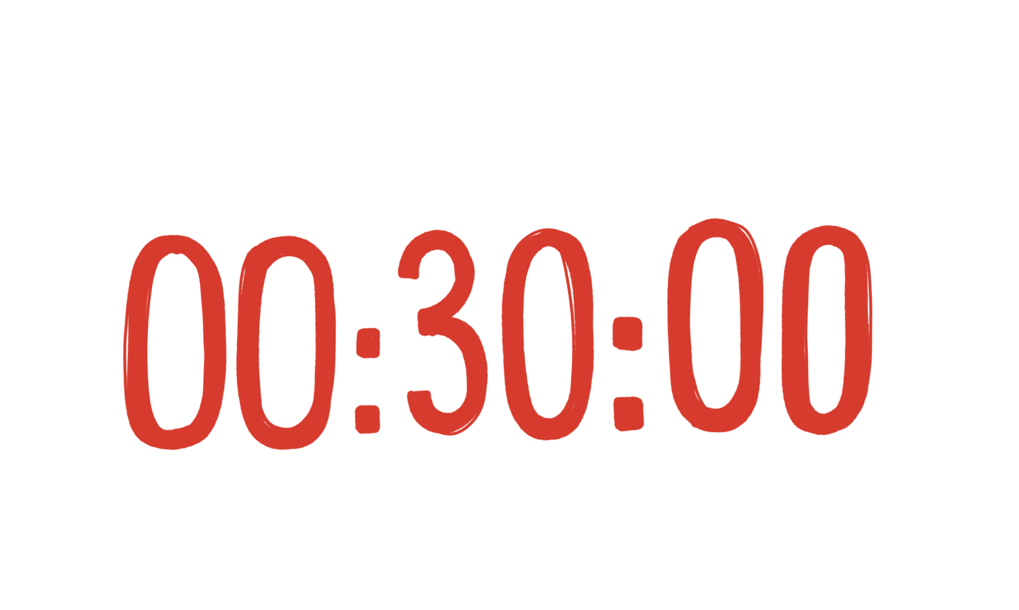 #nur30min - dann ist aber Schluß!
